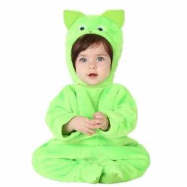 Groene poes verkleedverkleedkleding babies tip
