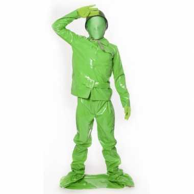 Groene soldaat verkleedkleding kind tip