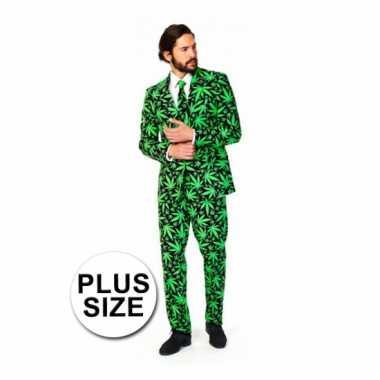Grote maten business verkleedkleding Cannabis tip
