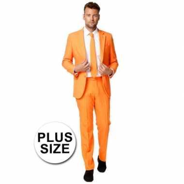 Grote maten business verkleedkleding oranje tip