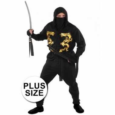 Grote maten ninja verkleedkleding heren tip