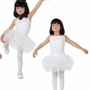 Gymverkleedkledingje witte tutu meiden tip