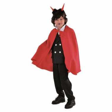 Halloween kinder verkleedkleding cape rood tip