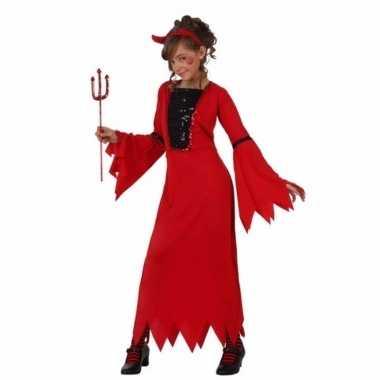 Halloween verkleedkleding rode duivel meisjes tip