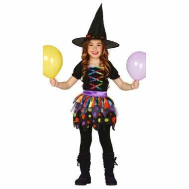 Heksen kinder verkleedkleding hoed tip
