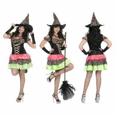 Heksen verkleedkleding jurk incl. hoed tip