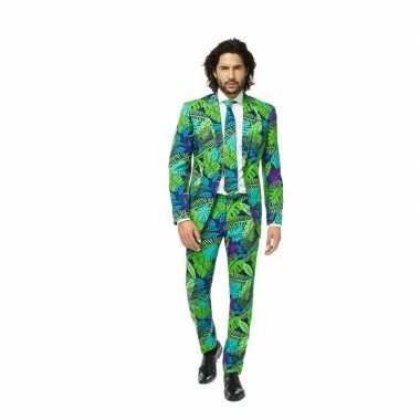 Heren verkleedkleding jungle print tip