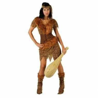 Holbewoonster/cavewoman ayla verkleed verkleedkleding/jurk dames tip