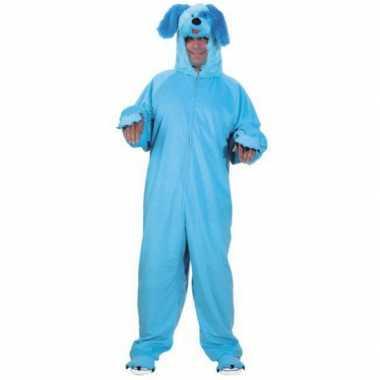 Hondenverkleedkleding volwassenen blauw tip