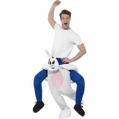 Instap dierenverkleedkleding verkleedkleding konijn/haas volwassenen