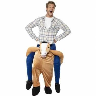 Instap dierenverkleedkleding verkleedkleding paard volwassenen tip