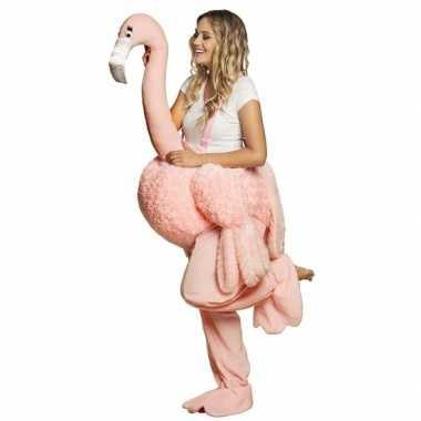 Instap verkleedkleding flamingo volwassenen tip