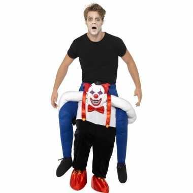 Instapverkleedkleding enge horror clown volwassenen tip