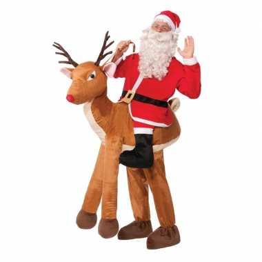 Instapverkleedkleding kerstman rendier volwassenen tip