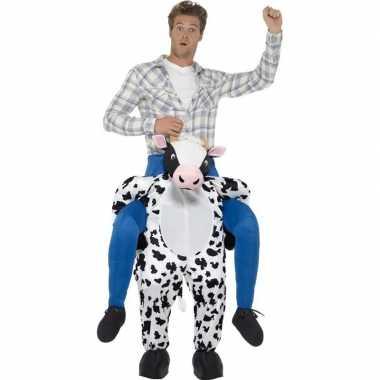 Instapverkleedkleding koe volwassenen tip