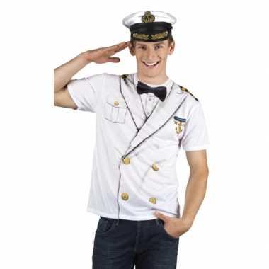 Kapitein verkleedkleding t shirt print tip
