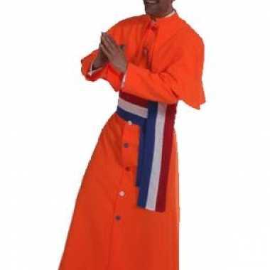 Kardinaal verkleedkleding oranje tip