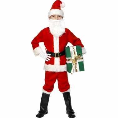 Kerstman deluxe kinder verkleedkleding tip