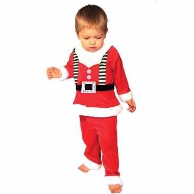Kerstman verkleedkleding peuters 3 delig tip