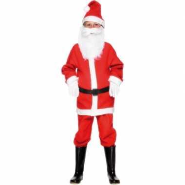 Kerstmannen verkleedkleding kind tip