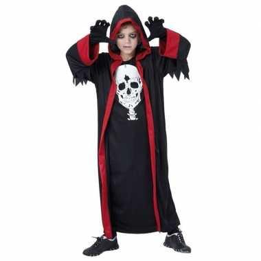 Kinder dracula verkleedkleding zwart rood tip