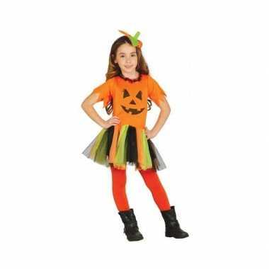 Kinder halloween verkleedkleding pompoen jurkje tip