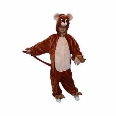Kinder muis verkleedkleding bruin tip