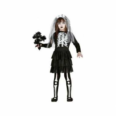 Kinder verkleedkleding skelet bruid tip