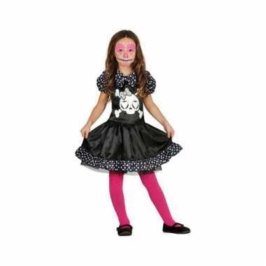 Kinder verkleedkleding skelet jurkje stippen