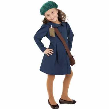 Kinderverkleedkleding oorlog evacuatie tip