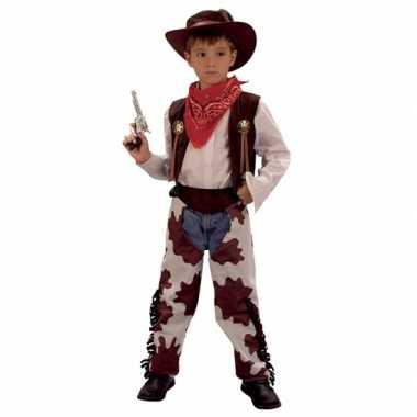Koeprint cowboy verkleedkleding kind tip