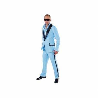 Lichtblauw gangnam verkleedkleding mannen tip