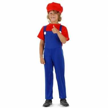 Loodgieter verkleedkleding rood jongens tip