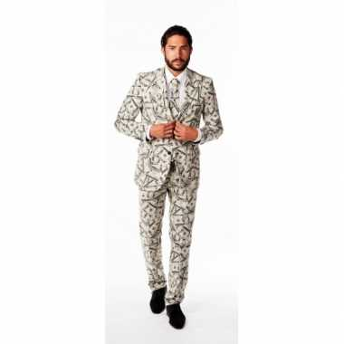 Luxe verkleedkleding heren dollars tip