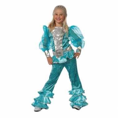 Mamma Mia verkleedkleding blauw tip