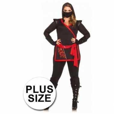 Ninja dames verkleedkleding draak erop tip