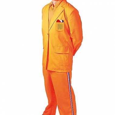 Oranje verkleedkleding Bobo tip