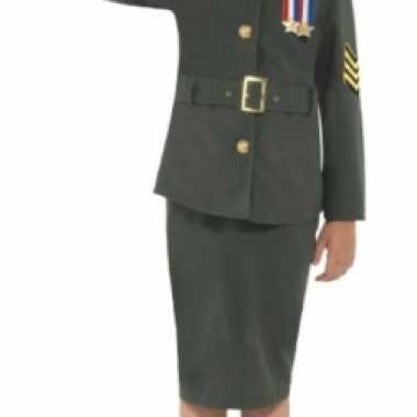 Ouderwets leger verkleedkleding meisjes tip