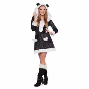 Panda dierenverkleedkleding jurkje dames tip