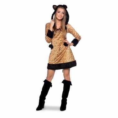 Panter dierenverkleedkleding jurkje dames tip