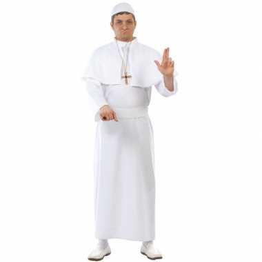 Paus verkleedkleding wit 4 delig tip