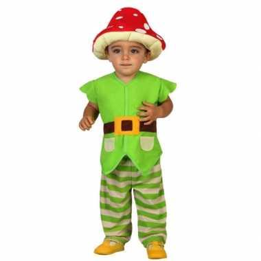 Peuter verkleedkledingje groene kabouter tip