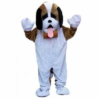 Pluche hond verkleedkleding volwassenen tip