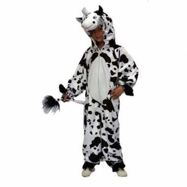Pluche verkleedkleding koeienprint tip