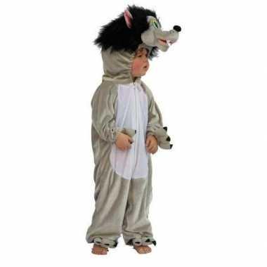Pluche wolven verkleedkleding kind tip