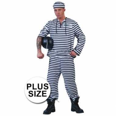 Plus size gevangenen verkleedkleding pet tip