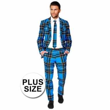 Plus size verkleedkleding Schotse print tip