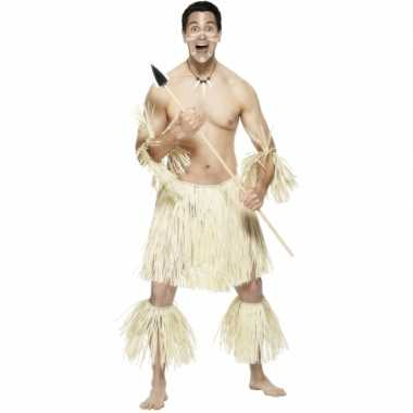 Rieten inboorlingverkleedkleding Zulu tip