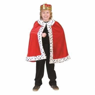 Rode koning verkleedkleding kind tip