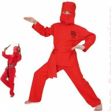 Rode Ninja verkleedkledingken kind tip